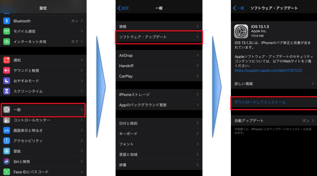 iOSのアップデート手順